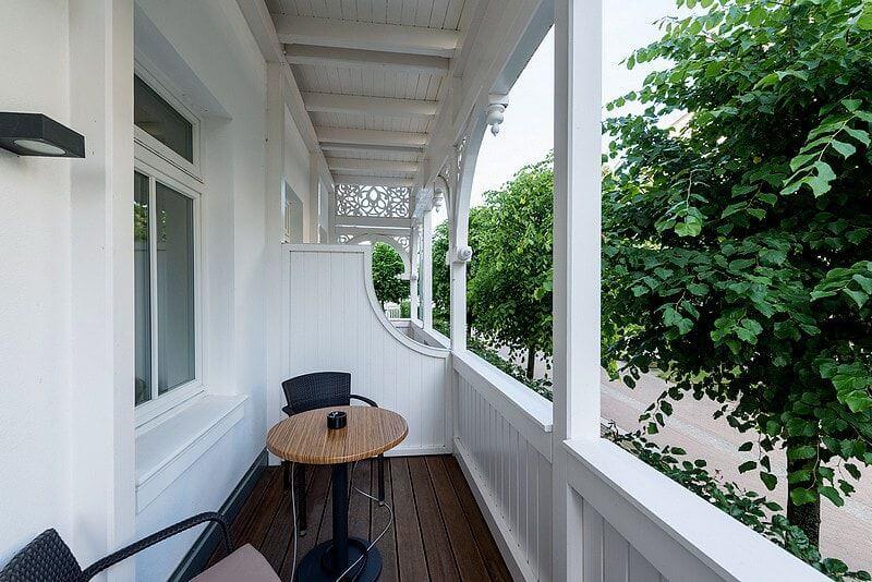 Balkon Meerblick Villa Seeblick Binz Wohnung01