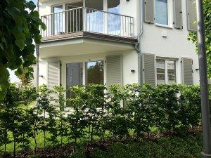 Blick auf die Wohnung 13 von der Goethe-Straße
