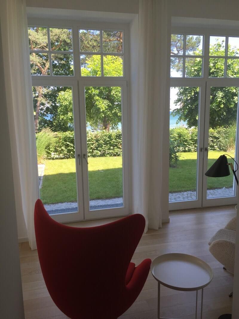 Blick aus der Wohnung auf die Ostsee