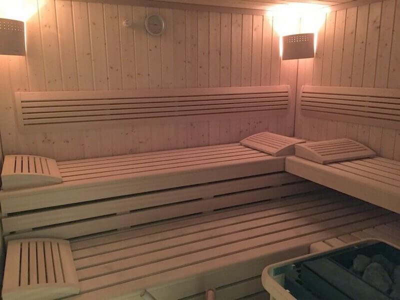 Großzügige Sauna in der Villa Seeblick, für alle Gäste kostenlos nutzbar