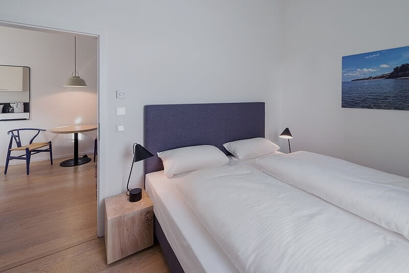 Schlafzimmer Ferienwohnung 01 Villa Seeblick