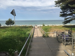 Strandübergang direkt am Grundstück