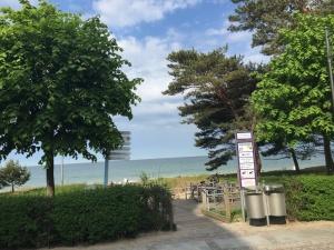 Strandübergang direkt an der Villa Seeblick