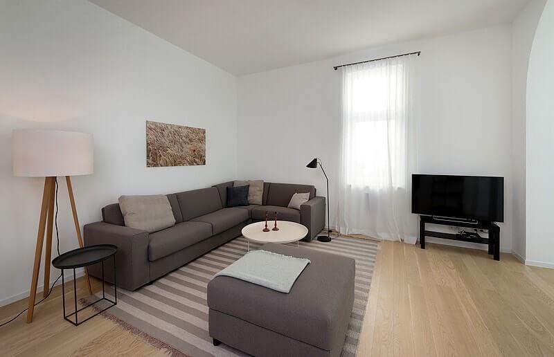 Wohnzimmer Ferienwohnung 03 Villa Seeblick Binz