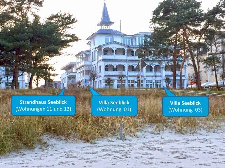 Villa seeblick mit 4 ferienwohnungen in binz auf r gen for Villa seeblick binz