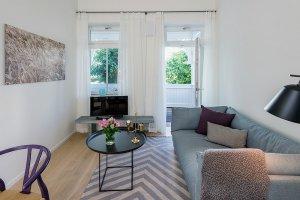 Wohnzimmer Wohnung 01 Villa Seeblick Binz