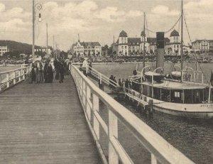Die Seebrücke in Binz zu Beginn des 20. Jahrhunderts