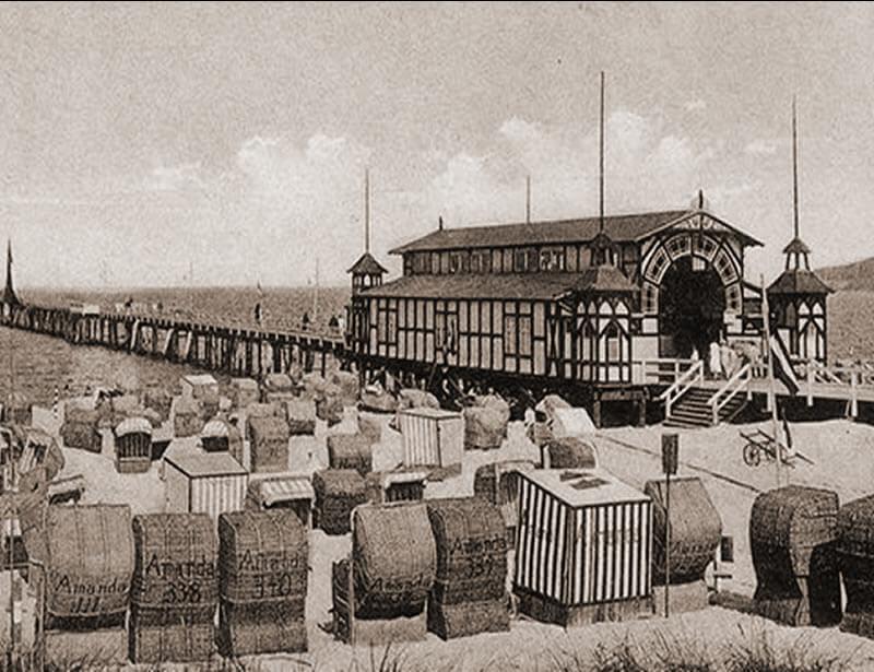 Die erste Seebrücke vor ihrer Zerstörung