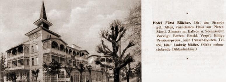 Historische Aufnahme: Hotel Fürst Blücher